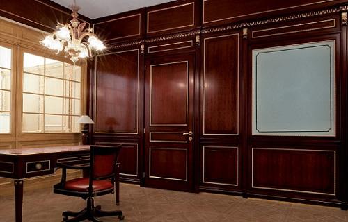 Применение деревянных панелей буазери – преображение помещения